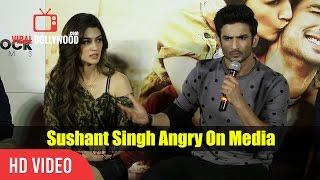Sushant Singh Rajput Get Angry On A Media Reporter | Raabta Trailer Launch | slams Media Reporter