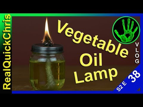 how to make a used vegetable oil lamp s2e38