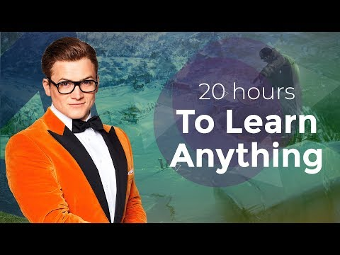 How to learn anything in 20 hours (4 steps method)