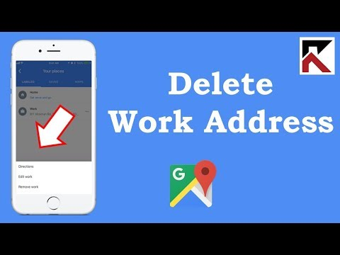 How To Delete Your Work Address Google Maps iPhone