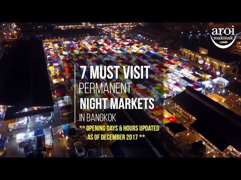 7 Must Visit Permanent Night Markets in Bangkok