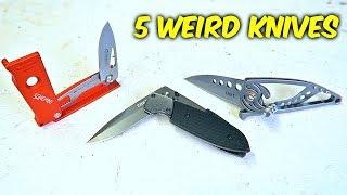5 Weird Folding Knives on Amazon