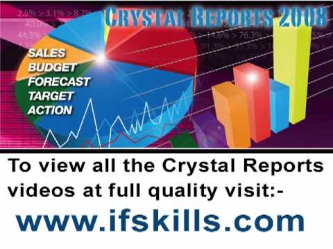 Crystal Reports Tutorial -  Connection to a SQL Database