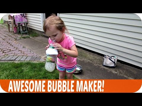 AWESOME Bubble Maker! | Vlog 8.12.15 | Mommy Etc