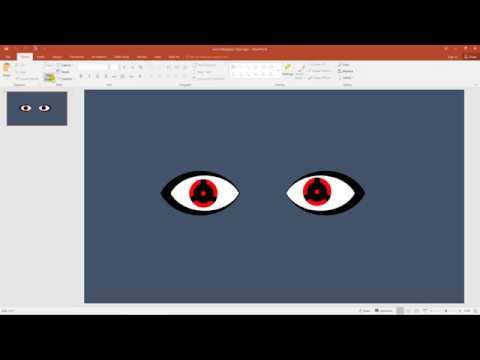 Create Izuna's Mangekyou Sharingan using PowerPoint