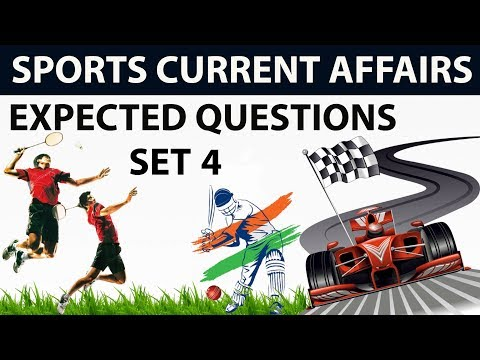 Sports current affairs MCQs of Last 6 months - Set 4 - October 2017 to March 2018 by Dr Gaurav Garg
