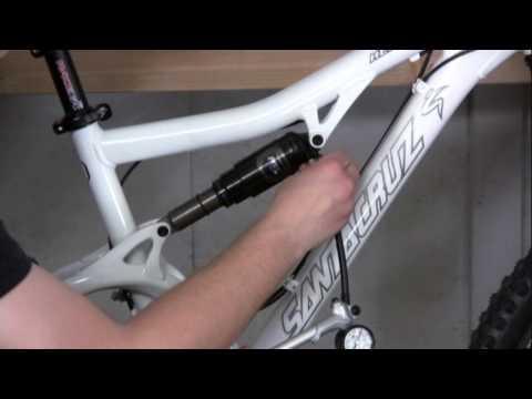 Adjusting Rear Shock Air Pressure on a Bicycle