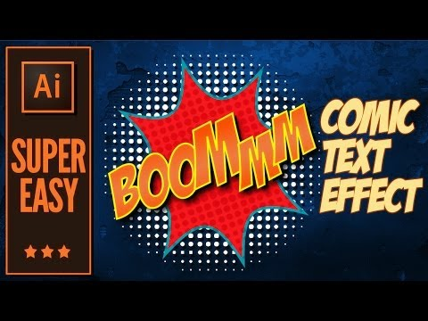 Illustrator Tutorial: How to create comic text effects.