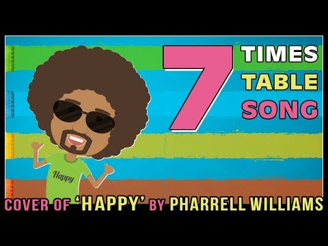 7 Times Table Song (Cover of Happy by Pharrell Williams) Easy Learn Skip Count