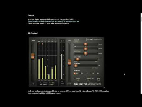 Free Audio Plugins to Try from Sonic Anomaly
