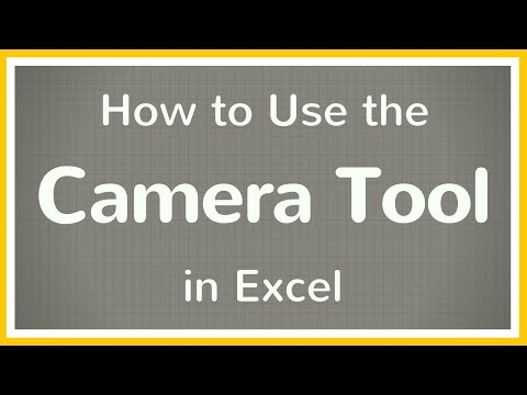 How to Use the Camera Tool in Excel - Tutorial