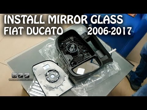 Mount install side view mirror glass only Fiat Ducato 2006-2017