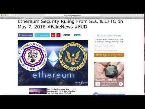 Ethereum SEC FUD Fake News | Charlie Munger brain baby | Bill Gates would short Bitcoin