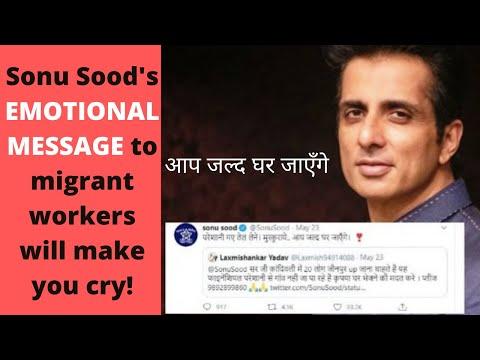 Sonu Sood's Top 5 EMOTIONAL replies to Migrant Workers on Twitter