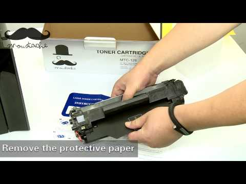 How to install Moustache 128 toner cartridge for Canon MF4412 - By 123InkCartridges