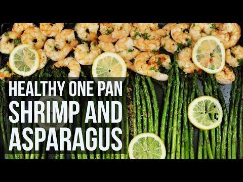 Healthy One-Pan Lemon Garlic Shrimp & Asparagus | Sheet Pan Seafood Dinner Recipe by Forkly