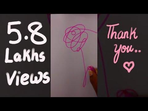 Bts dna love yourself album 'O' Version logo flower drawing