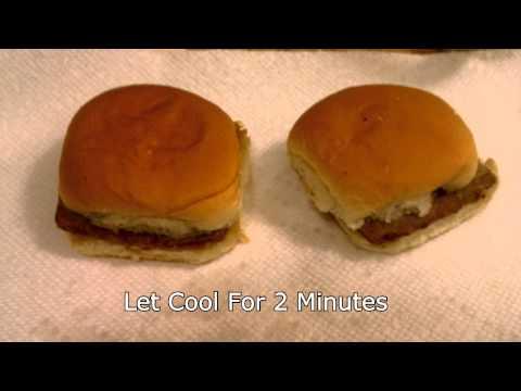 Make A SUPER WHITE CASTLE Hamburger!