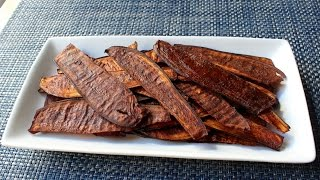 "Eggplant ""Bacon"" - Crispy Bacon-Spiced Eggplant Chips"