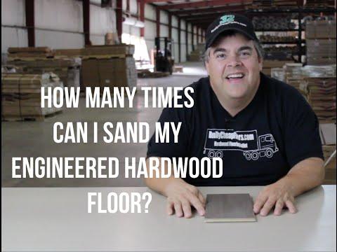 How many times can I sand my Engineered Hardwood Floor?- ReallyCheapFloors.com Q&A Show