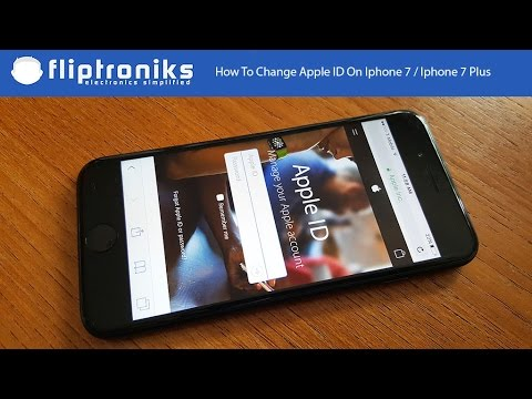How To Change Apple ID On Iphone 7 / Iphone 7 Plus - Fliptroniks.com