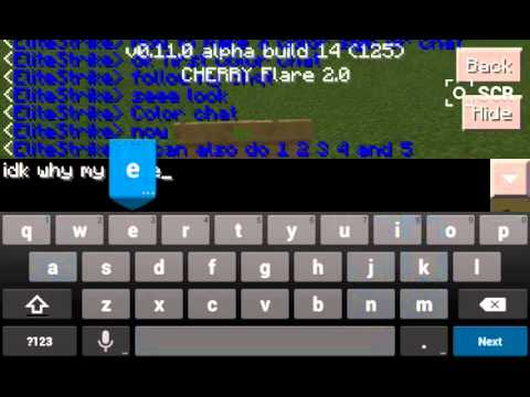 Minecraft Pe how to make a color sign and chat