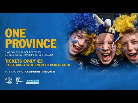 One Province - €5 junior tickets for Leinster Rugby games