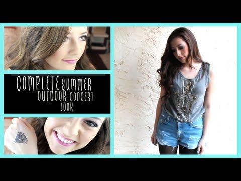 Outdoor Summer Concert || Makeup, Hair, & Outfit!
