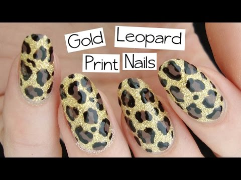 Beginner's Nail Art | Gold Leopard Print