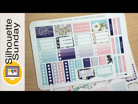 DIY Planner Stickers #2 (File Editing) | Silhouette Sunday