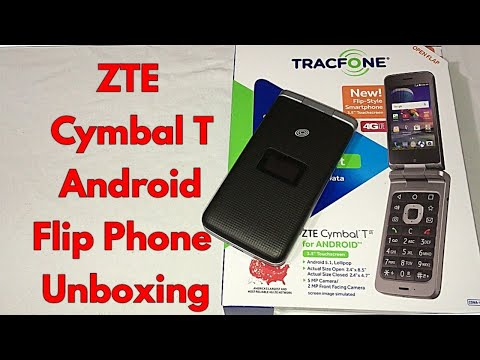 ZTE Cymbal T Android Flip Detailed Unboxing & First Impressions.