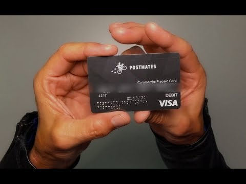 Postmates Commercial Prepaid Card Activation!