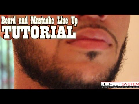 BEARD AND MUSTACHE LINE UP TUTORIAL - SELF CUT SYSTEM