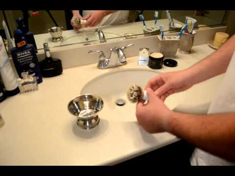 How to make Shaving Lather Using a Badger Shave Brush and bowl