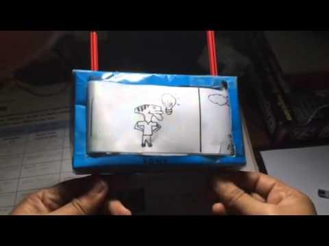 T.V using a cardboard box