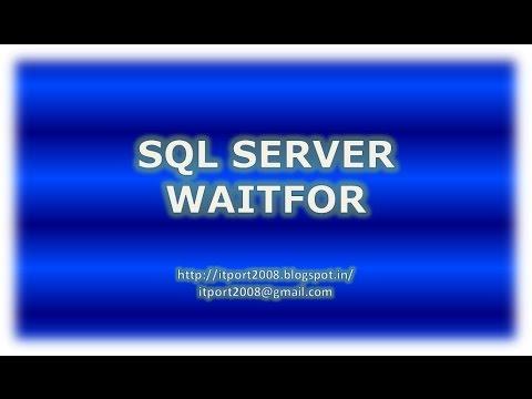 WAITFOR DELAY   TIME in SQL Server
