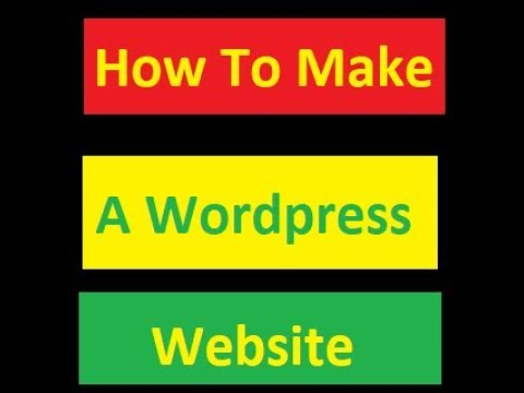 How To Make A Website With Wordpress Via Host Gator With No Coding Required