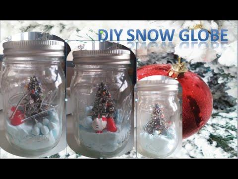 DIY Snow Globe WITHOUT water || Craftmas 2015 || #8