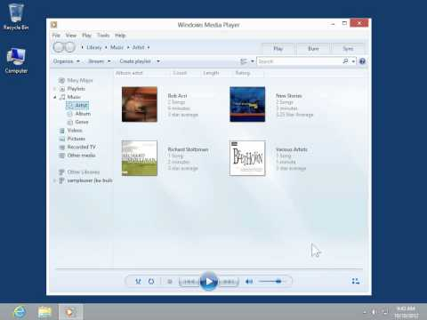 Windows 8.0 Professional - Delete a File from the Windows Media Player Library