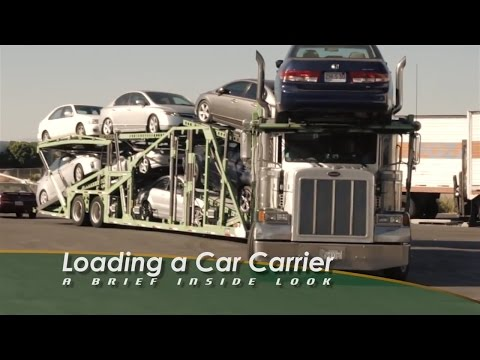 Loading an Auto Carrier
