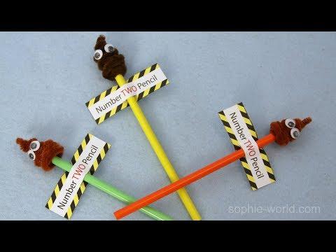How to Make a Poop Emoji Pencil | Sophie's World