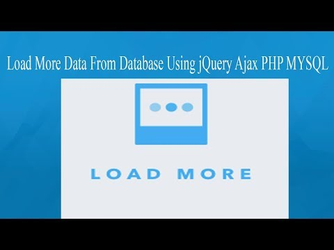 Auto Load More Data From Database Using jQuery Ajax PHP MySQL || php developer