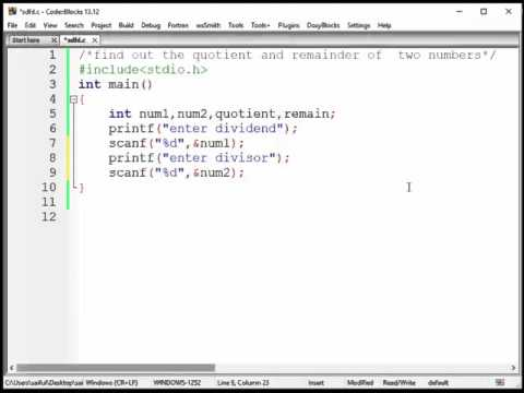 C Programming Bangla Tutorial (Program -3) find quotient and remainder of two numbers