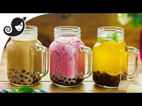 3 Mauritian-inspired Bubble Tea Recipes - Chai ✿ Alouda ✿ Panakon | Vegan/Vegetarian Recipe