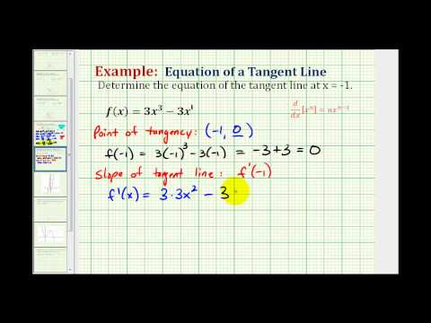 Ex: Determine the Equation of a Tangent Line to a Function Using the Power Rule