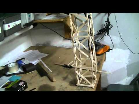 Test 1 of a popsicle tower (crane boom)