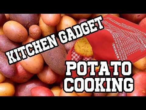 Testing kitchen gadgets for potatoes