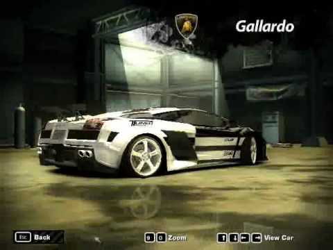 Need For Speed Most Wanted My Customized Cars In Career Mode