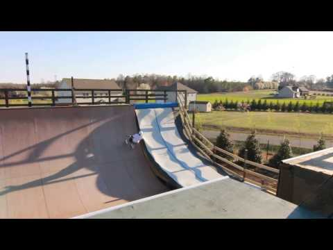 Otto Bolanos trying twister on resi vert ramp