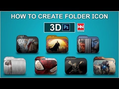 How To Create Custom Folder Icon | Create Folder Icon Using Photoshop